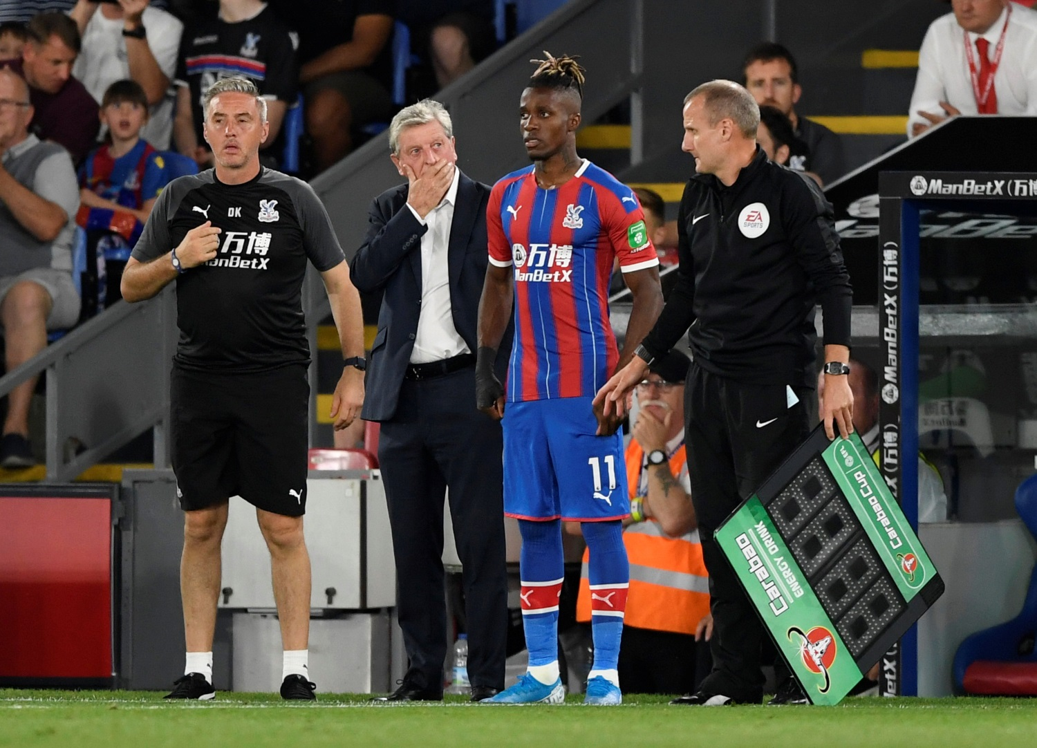 Zaha Questions Palace Team-Mates