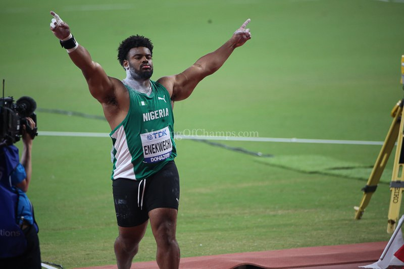 17th IAAF Worlds: Enekwechi Becomes 1st Nigerian To Reach Shot Put Final; 4x100m Relays Take Centre Stage