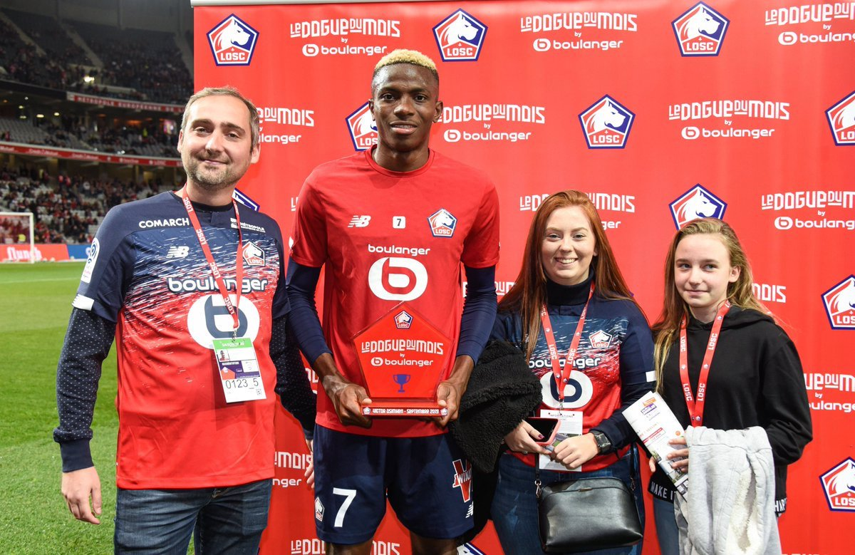 Osimhen Named Lille Player Of The Month For September