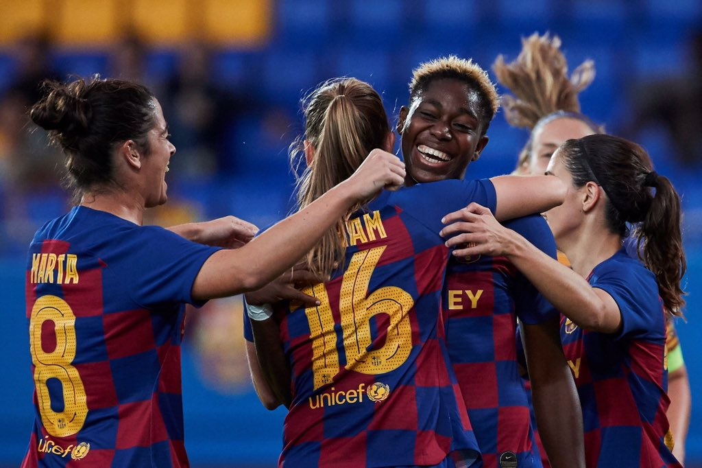 Oshoala On Target As Barcelona Ladies Thrash Minsk 5-0 In Champions League Clash