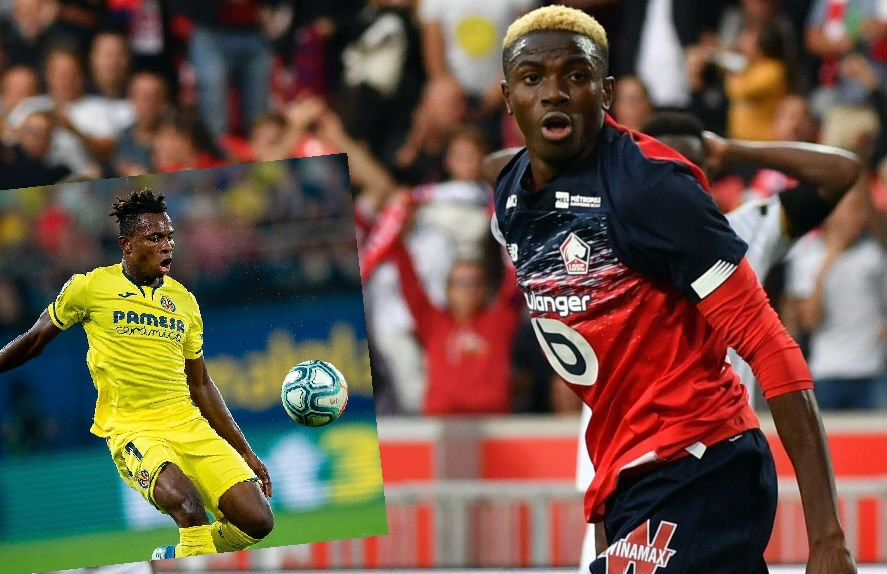 UCL: Chukwueze Talks Up 'Complete Forward' Osimhen Ahead Lille vs Valencia