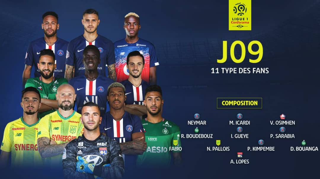 Osimhen Named In French  Ligue 1 Team Of The Week