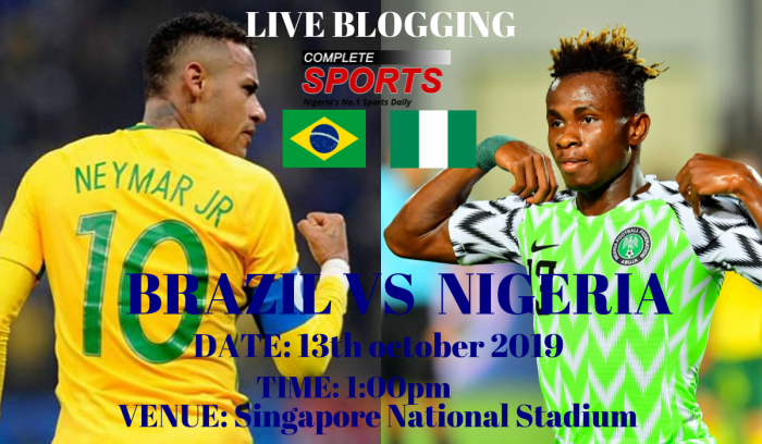 Live Blogging: Brazil Vs Nigeria (International Friendly)