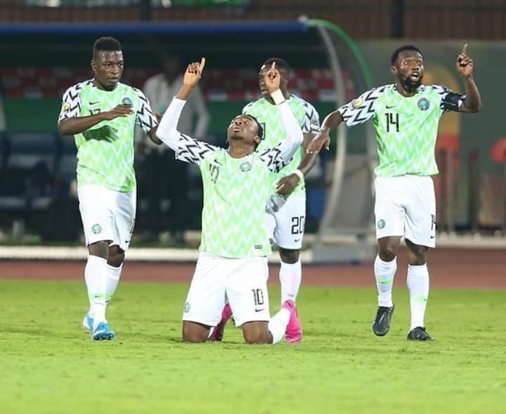 Okechukwu Celebrates Olympic Eagles Win Against Zambia