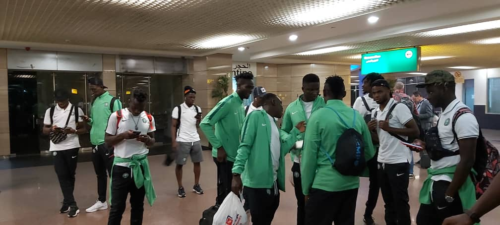 Olympic Eagles Arrive Egypt For U-23 AFCON 2019