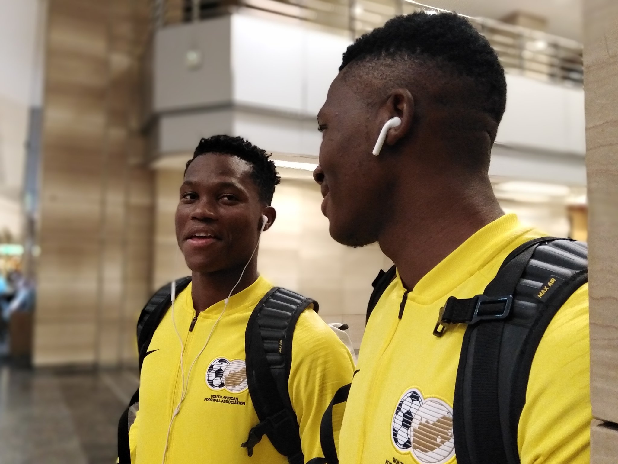 South Africa Arrive  Egypt For U-23 AFCON With 12 Players