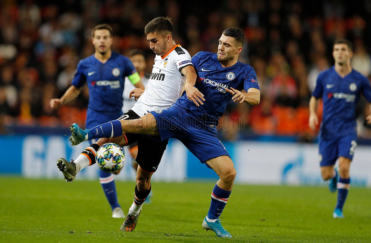 UCL: Valencia – Chelsea Thriller Ends in  2-2 Draw at The Mestalla