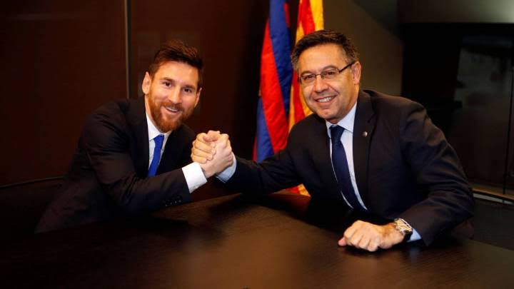 Barca President, Bartomeu Expects Messi To Remain With The Club For The Next Five Years