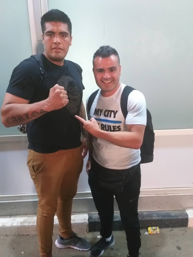 GOtv Boxing Night 20: Argentina's Baracamonte Arrives for WBF Title Bout, Eyes Victory