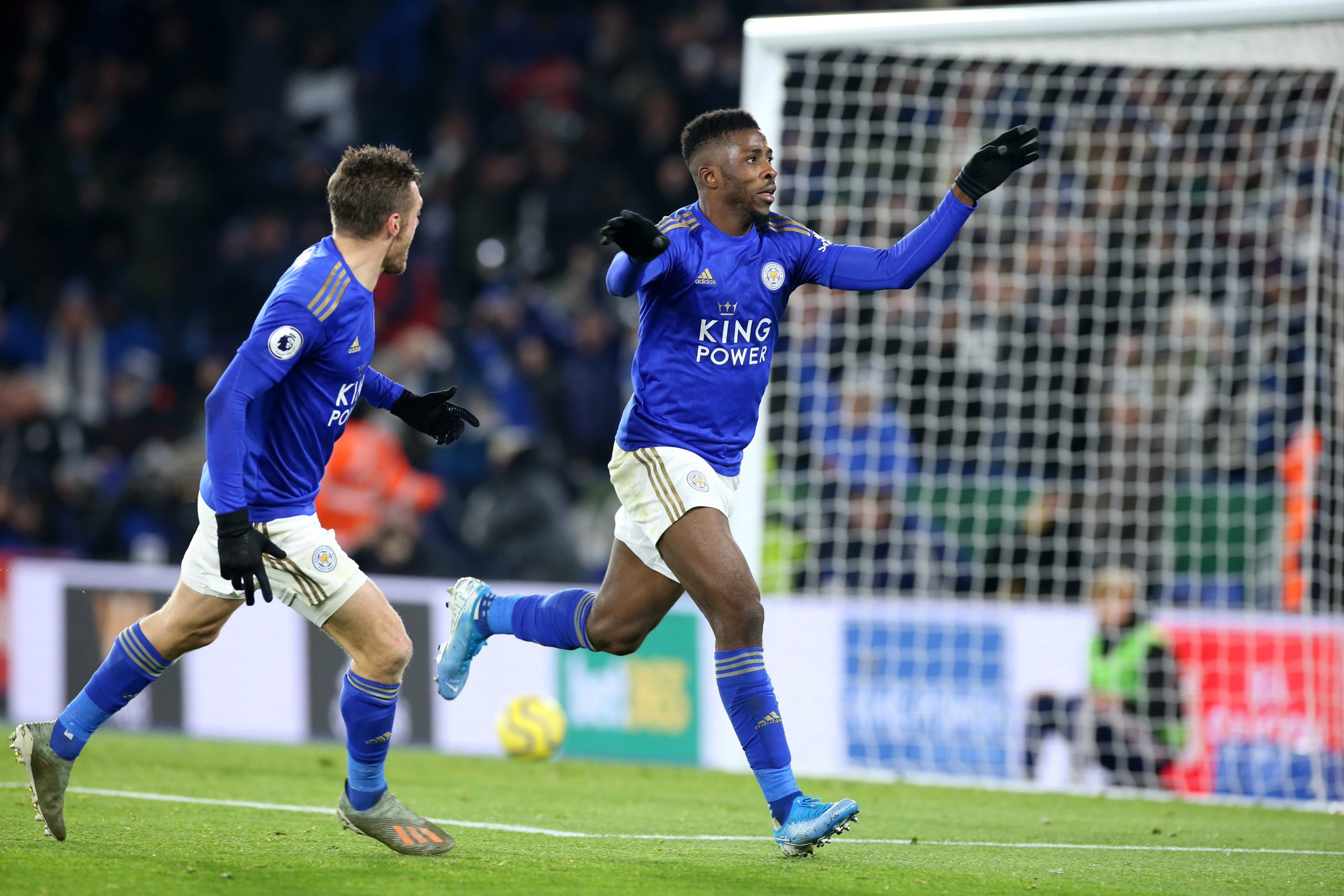 Ndidi, Vardy, Others Celebrate Iheanacho's Winning Goal Vs Everton