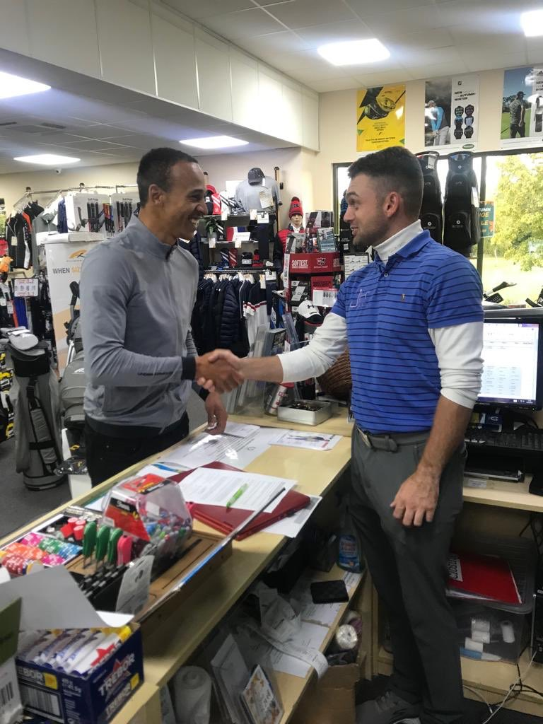 Odemwingie Bags Golf Coaching License,  Now A Qualified Instructor