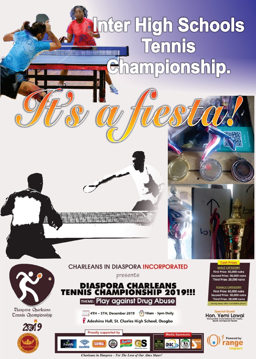 Diaspora Charleans Sponsor Table Tennis Championships For Old School in Osogbo
