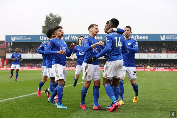 Image result for Iheanacho wins Leicester Man of the Match against Brentford