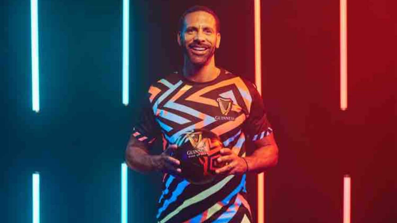 Rio Ferdinand in Lagos For Guiness Night Football Pan-African Finale