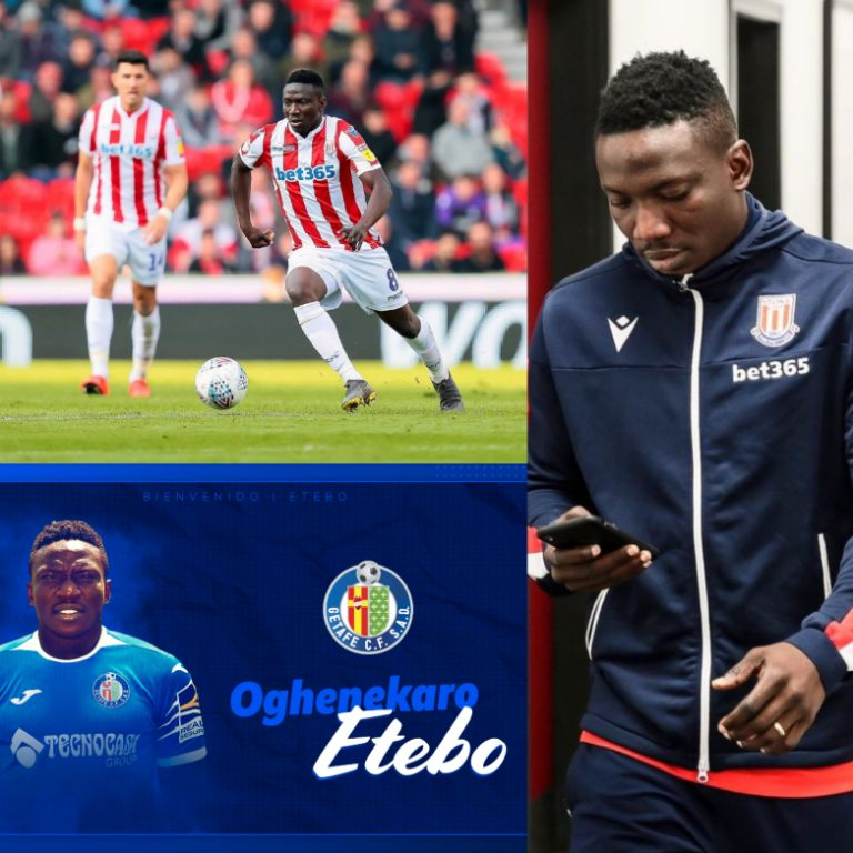Stoke City Fans Angry Over Etebo's Loan Switch To Getafe