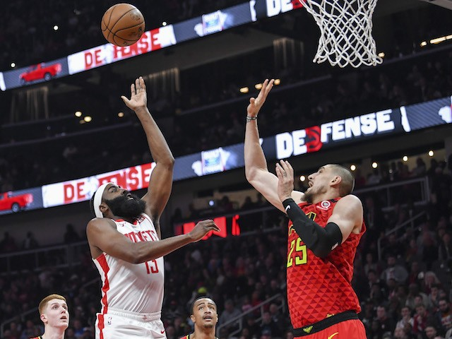 James Harden Finishes With A Triple-Double Of 41 Points, 10 Assists And 10 Rebounds As Rockets Beat Hawks 122-115 On The Road