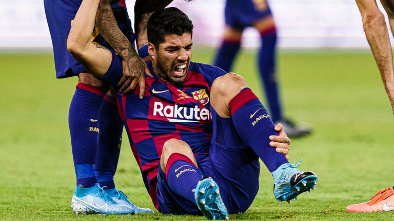 Suarez Ruled Out For Four Months After Undergoing Surgery