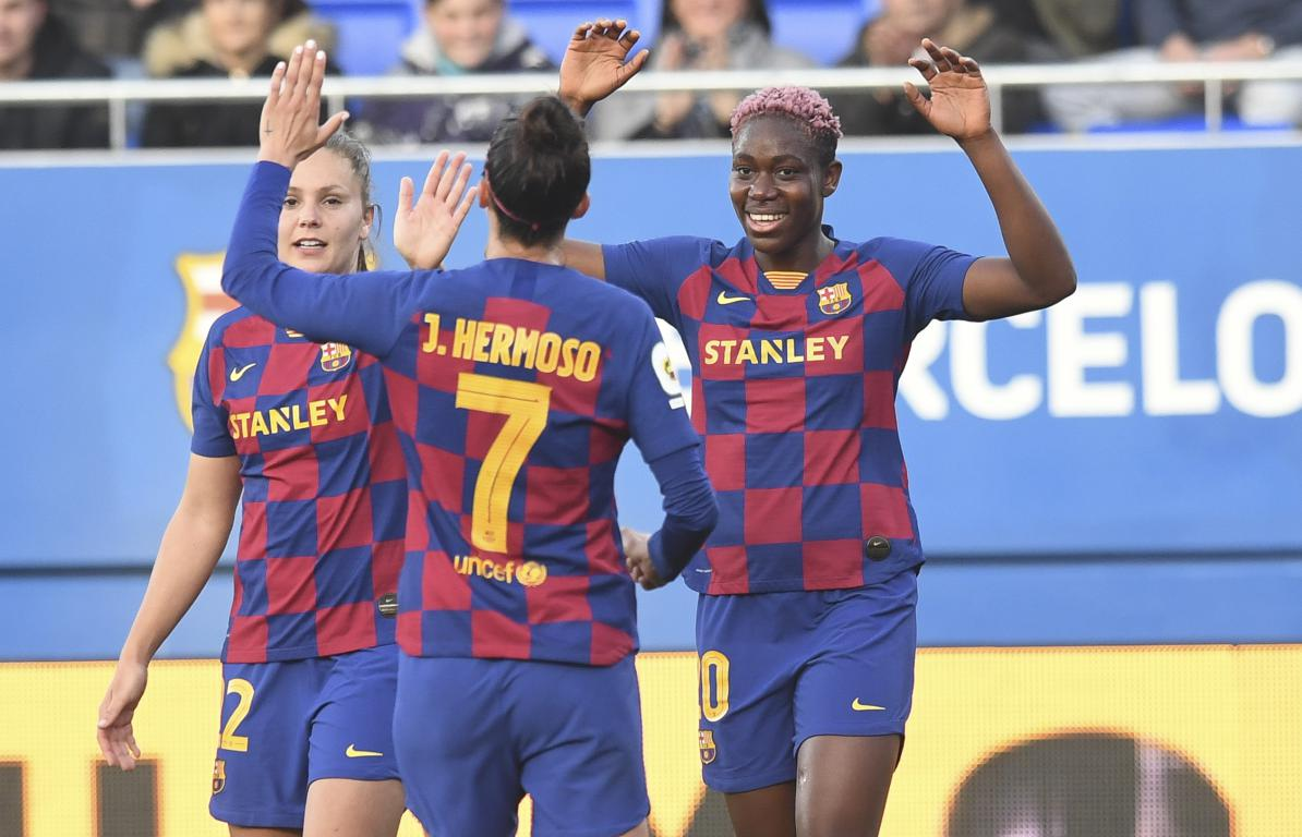 Oshoala Continues Scoring Form As Barcelona Ladies Trounce Sporting de Huelva