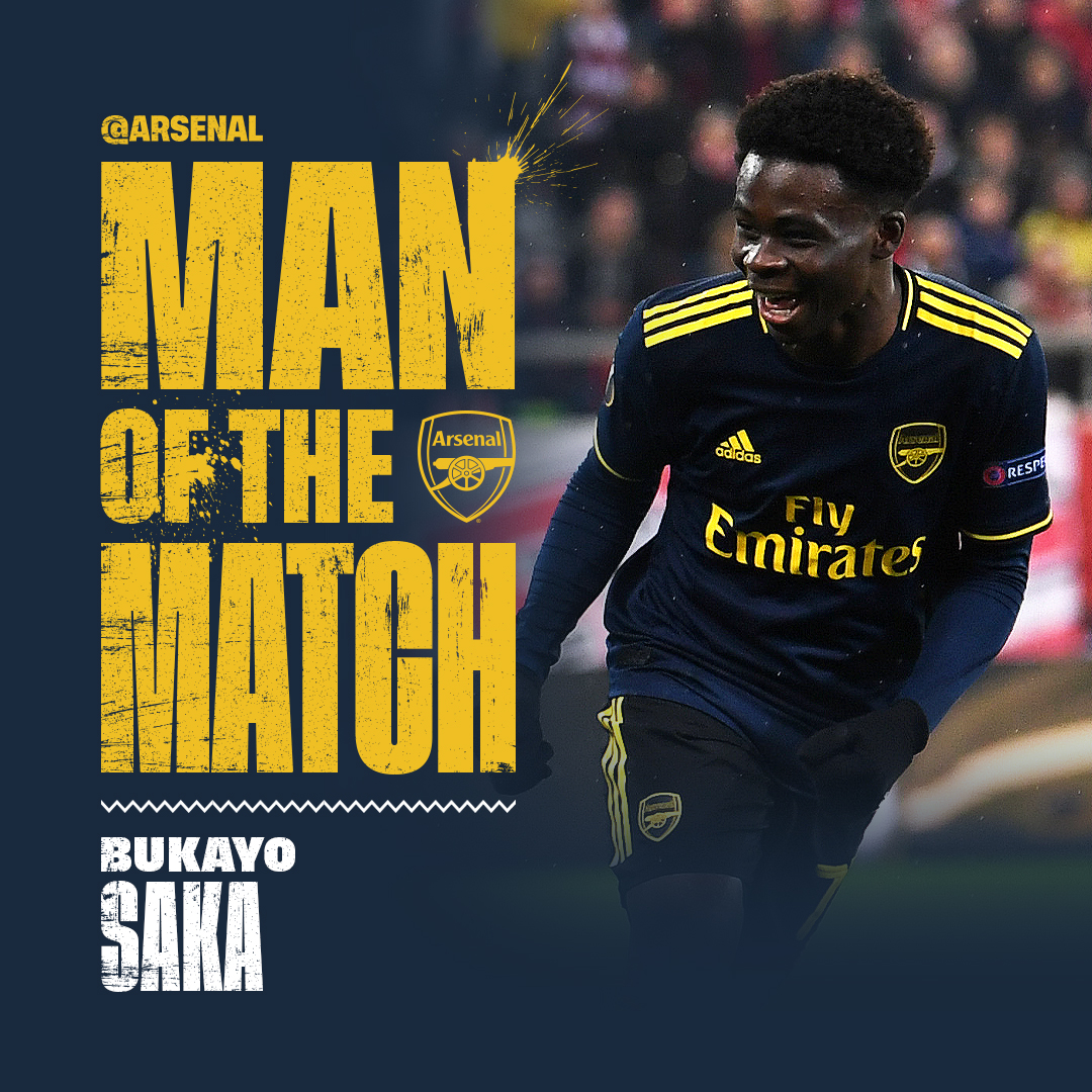 Record Breaker Saka Voted Arsenal's Man of The Match In Win vs Olympiakos