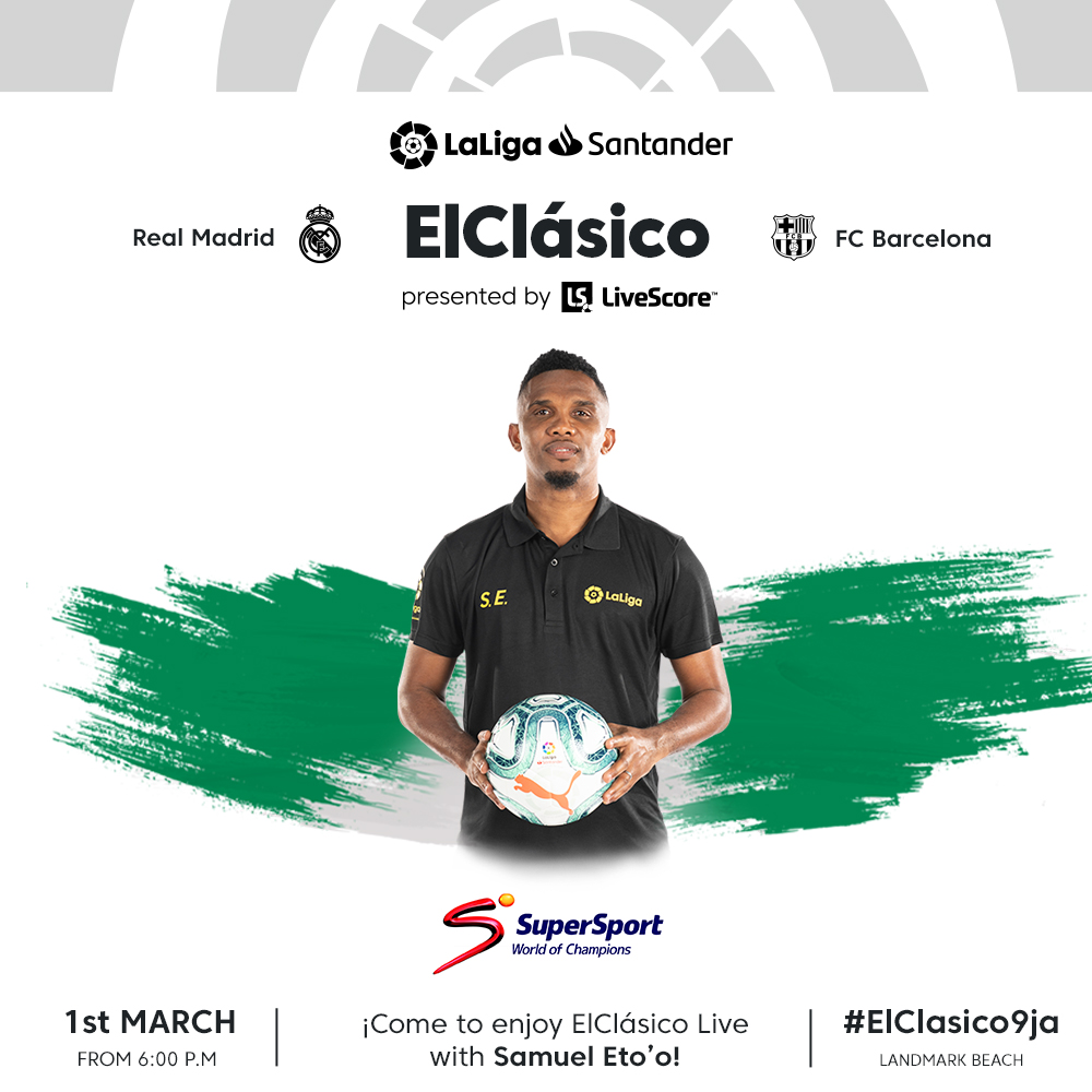 #ElClásico9ja! Lucky Nigerian LaLiga Fans to Watch Madrid – Barca Clash With Eto'O
