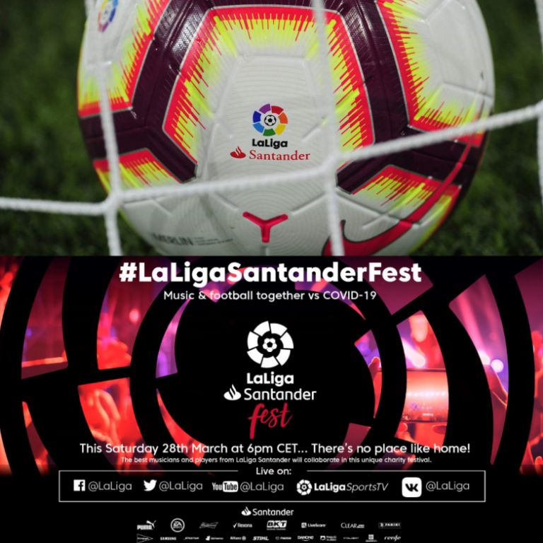 50 Artists, Footballers Team Up To Fight Coronavirus Via 'LaLiga Santander Fest'