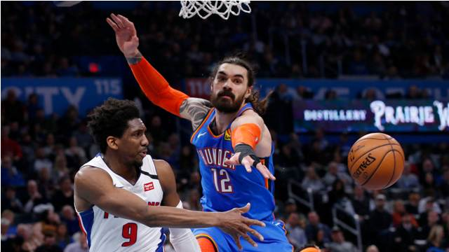 Thunder Come To Town To Meet Christian Wood And Pistons, At Little Caesars Arena