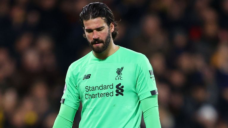 Alisson Out Of Liverpool's UCL Clash Vs Atletico Madrid With Hip Injury