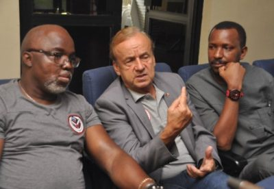 Nff-nigeria-football-federation-amaju-pinnick-gernot-rohr-super-eagles-sani-ahmed-toro