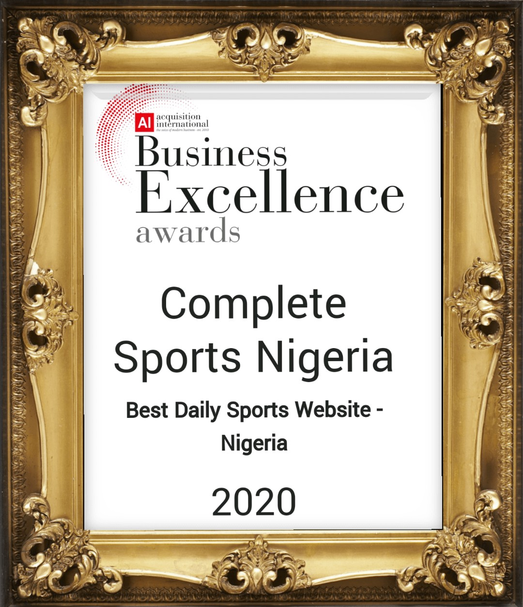 Completesports.com Crowned Nigeria's Best Daily Sports Website Again