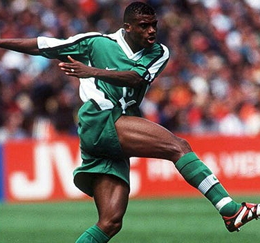 FIFA Remembers Oliseh's Wonder Goal Against Spain At 1998 World Cup