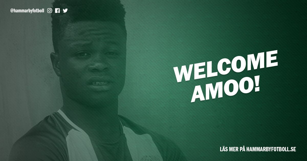 Ex-Eaglets star Amoo Joins Ibrahimovic's Hammarby On Four-Year Contract