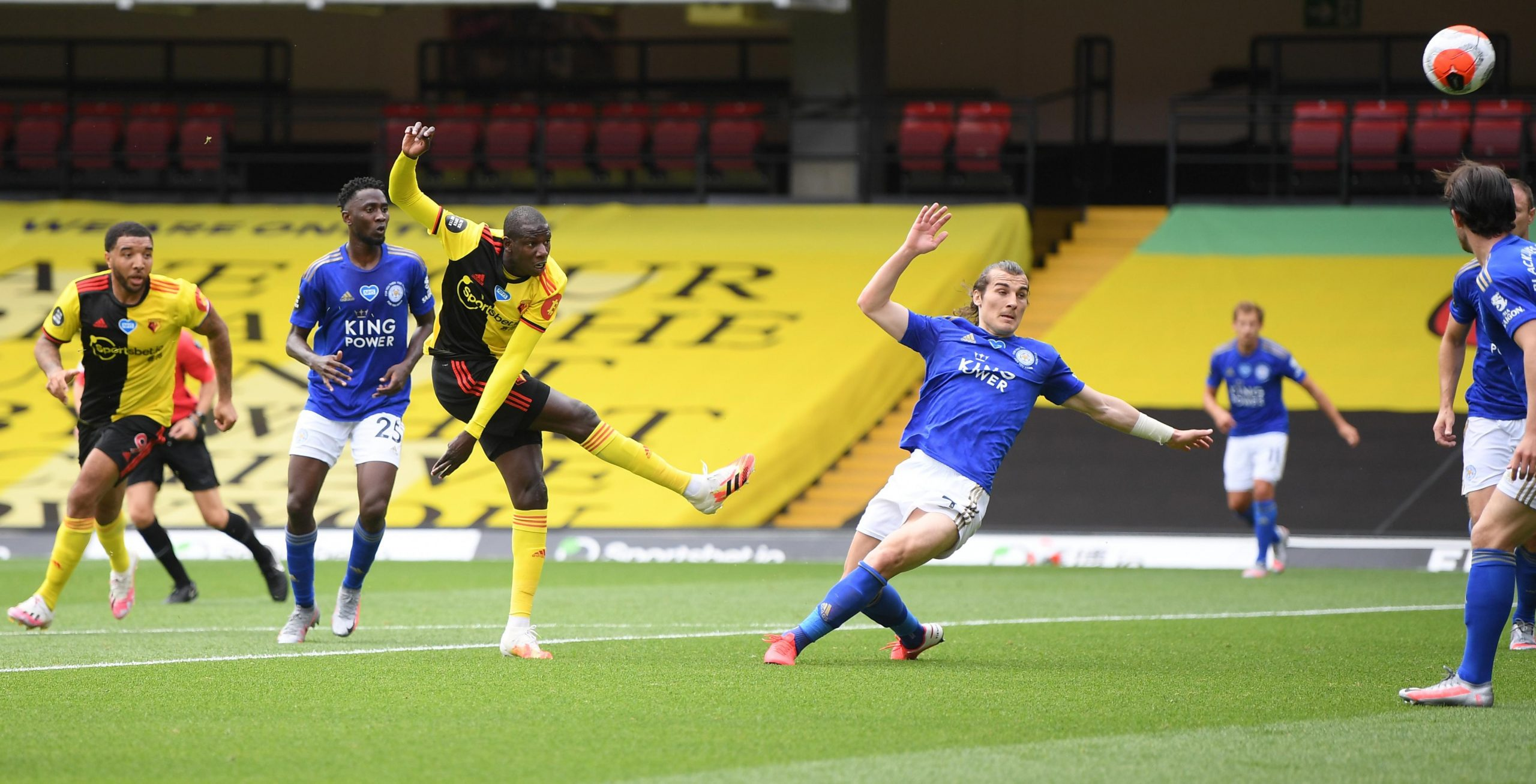 EPL:  Ndidi, Iheanacho In Action As Watford, Leicester Share Spoils At Vicarage Road