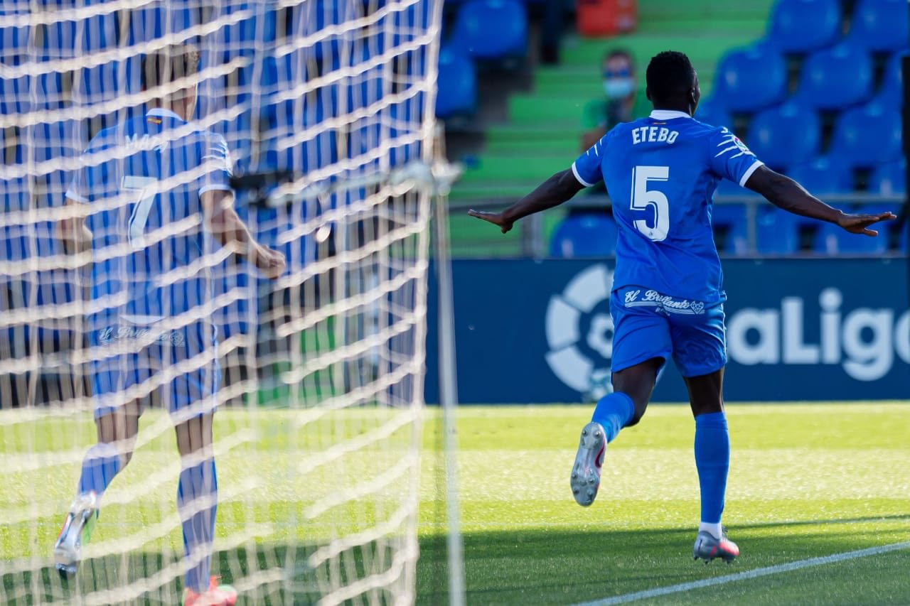 Etebo Thrilled To Open Getafe Goal Account