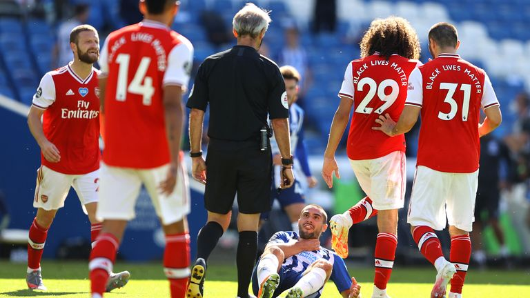 Guendouzi To Face No Further Action Over Brighton's Maupay Incident
