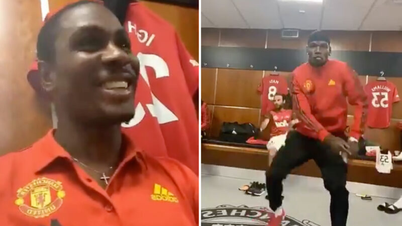 Ighalo, Pogba Celebrate Man United Win Vs Bournemouth With Wizkid's Song, Soco