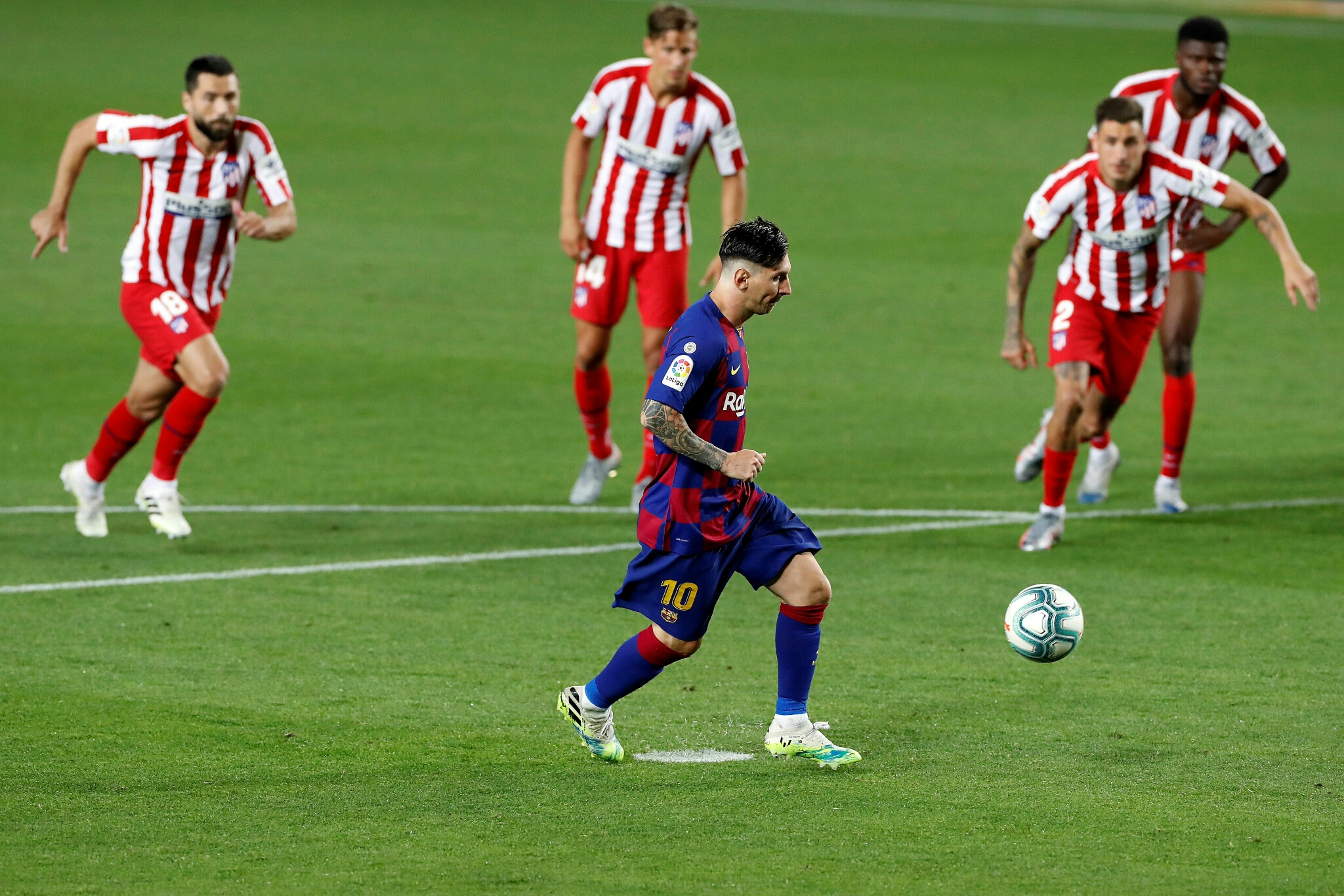 Messi Reaches Milestone As Barcelona Slip Up Again In Title Race After Atletico Draw