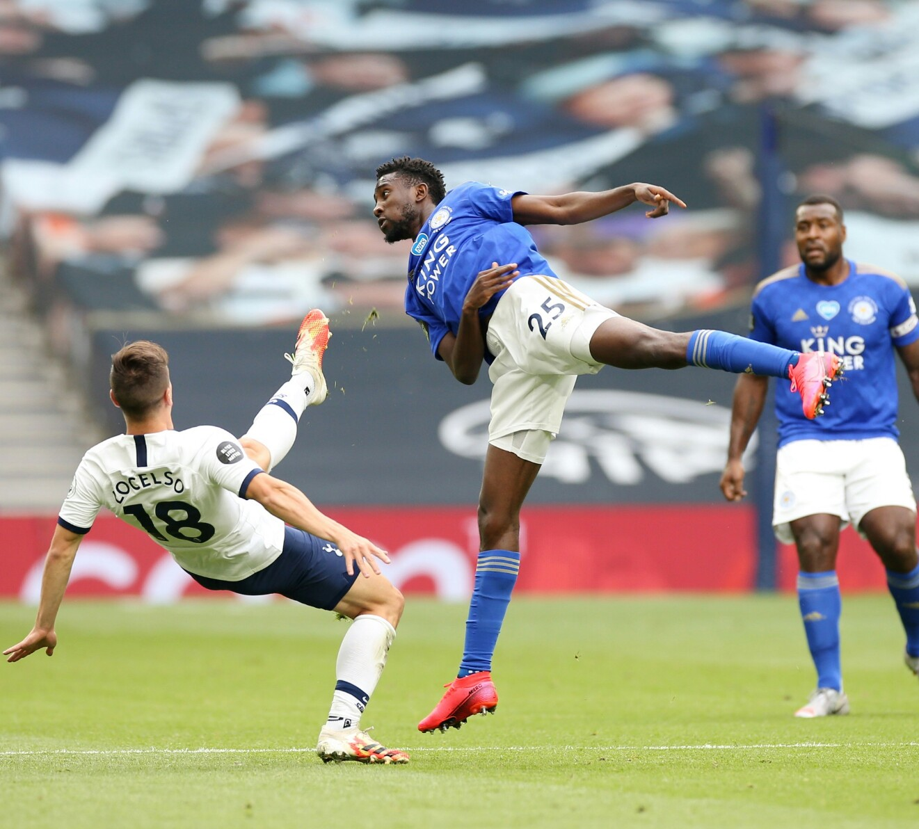 EPL:  Ndidi, Iheanacho In Action As Kane Double Puts Leicester's CL Hopes In Jeorpady