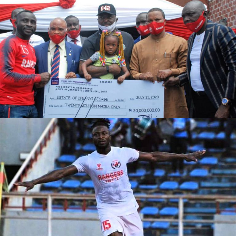 Rangers Show The Way, Present N20m Life Insurance Benefit To Late Ifeanyi George's Family