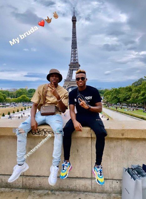 Osimhen Chills Out In Paris With Chukwueze Ahead Napoli Switch Announcement