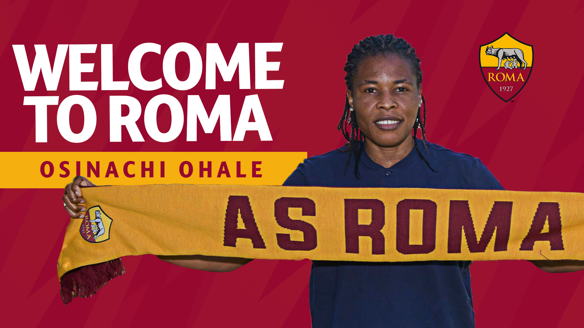 Super Falcons Defender Ohale Joins AS Roma Women's Team