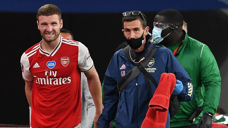 Mustafi Out Of Arsenal vs Chelsea FA Cup final With Injury