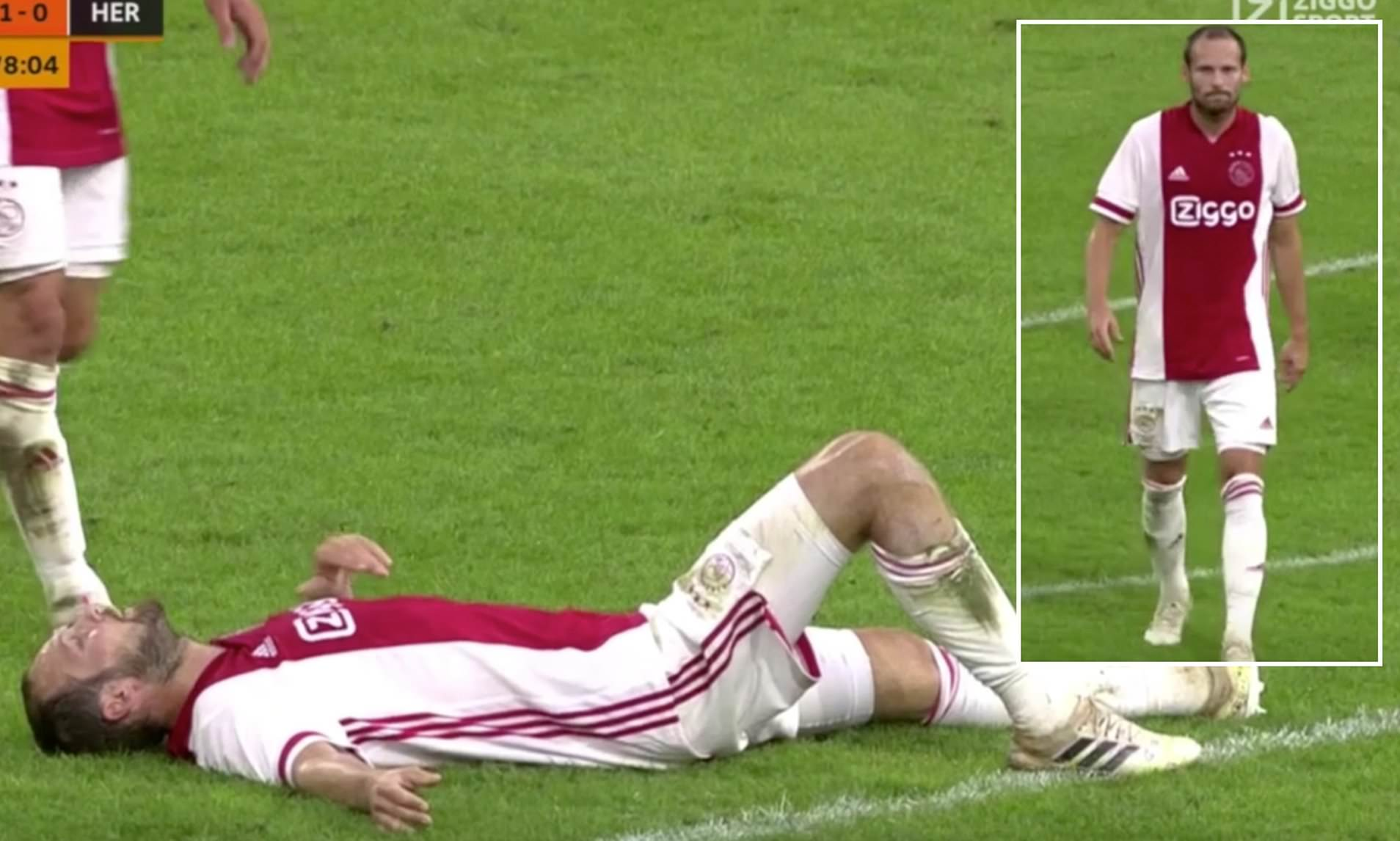 Ajax Defender Blind Collapses During Pre-Season Friendly