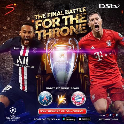 Champions League Final 2020: Watch Bayern Vs PSG Live On DStv