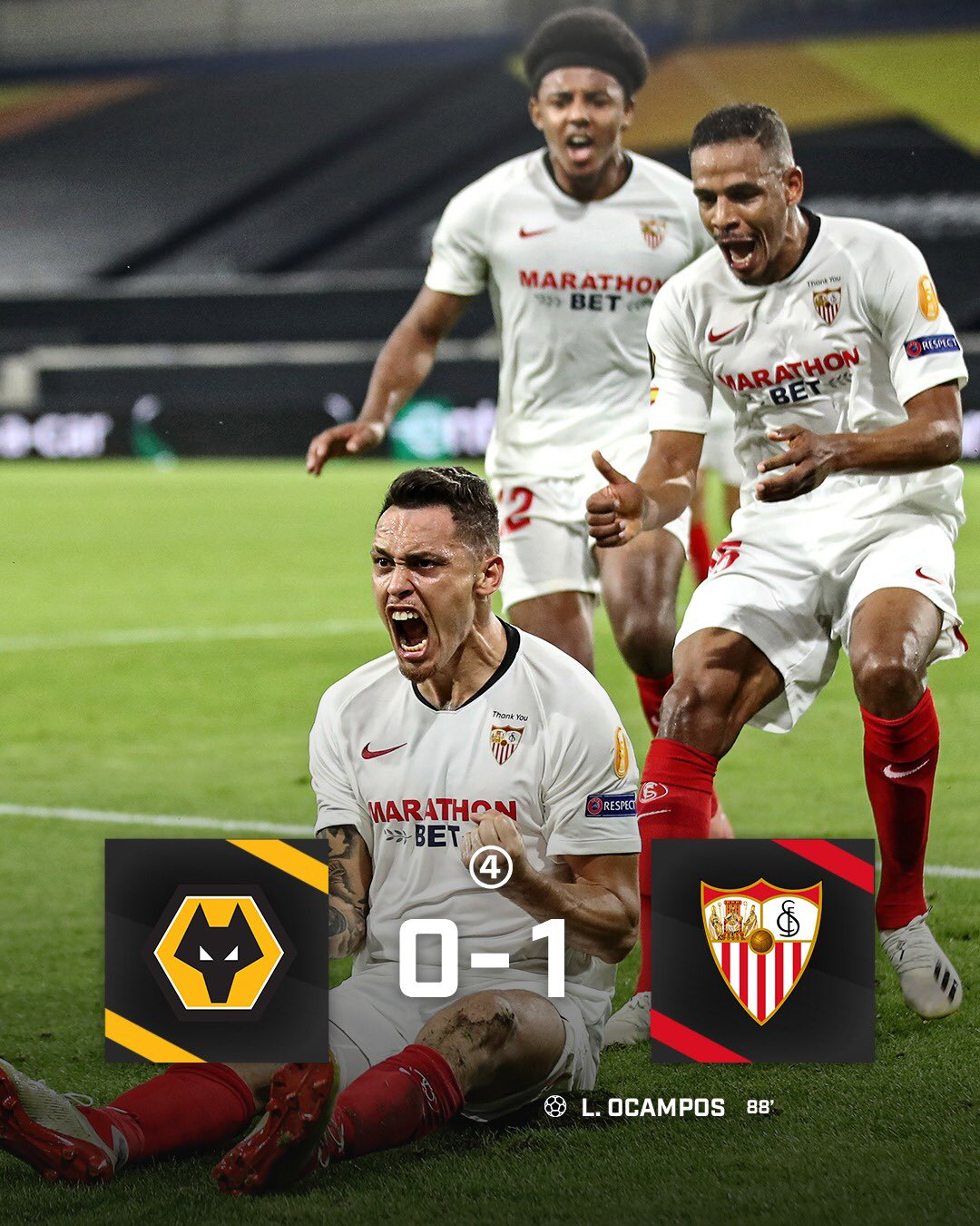 Europa League: Sevilla, Shakhtar Beat Wolves, Basel, Qualify For Semi-finals