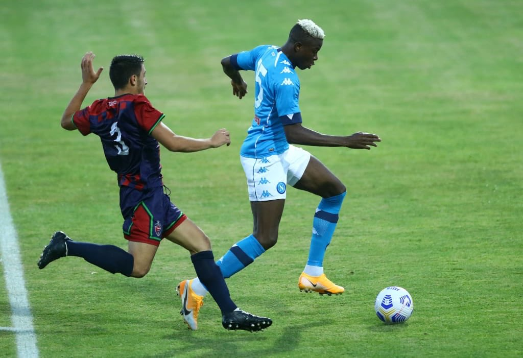 Osimhen Savours Napoli Friendly Win Over L'Aquila