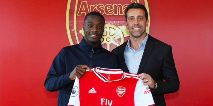Arsenal open investigation into £72m club paid for Nicolas Pepe