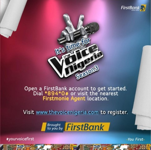 FirstBank Partners Un1ty Nigeria, Promotes Growth Of The Nigerian Music With the Voice Nigeria Season 3