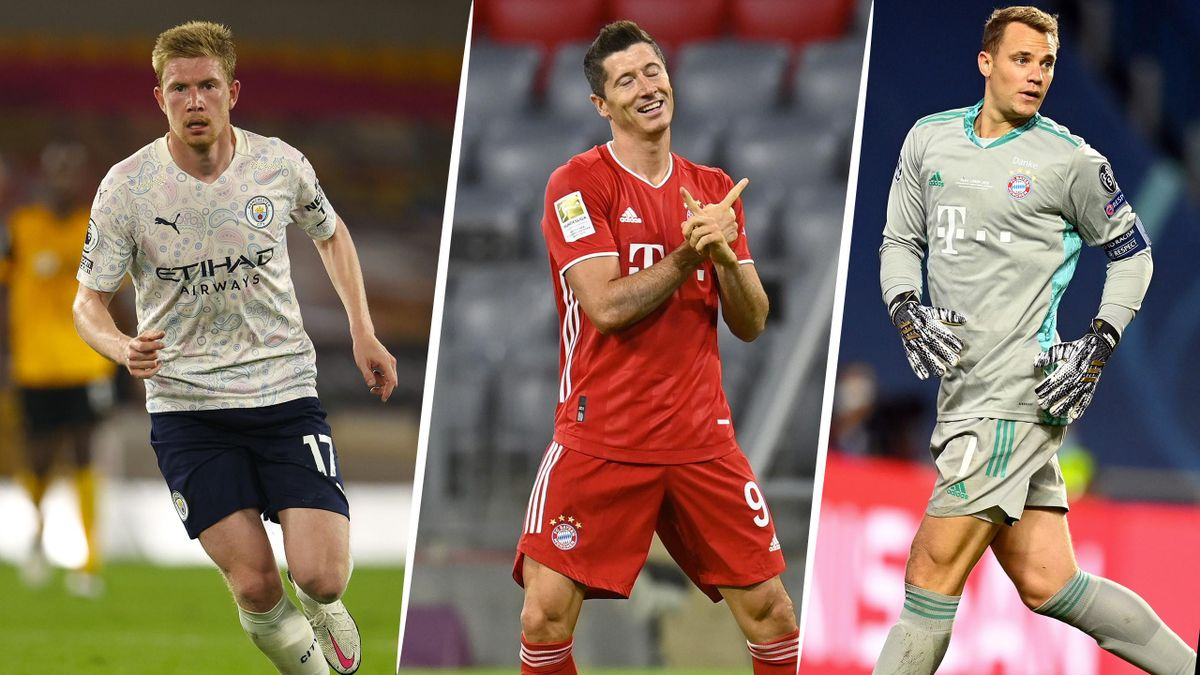 Lewandowski, Neuer, De Bruyne Nominated For UEFA Player of the Year award