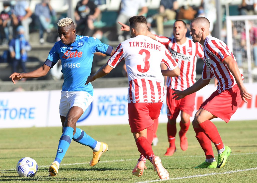 Osimhen Bags Hat-trick Again In Napoli Friendly Win