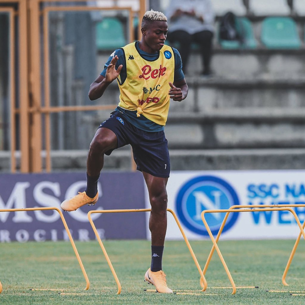 Osimhen Trains Alone In Gym, On Pitch; May Miss Three More Napoli Games
